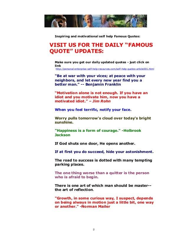 Famous Quotesselfhelpbookpdf Beauteous Self Help Quotes