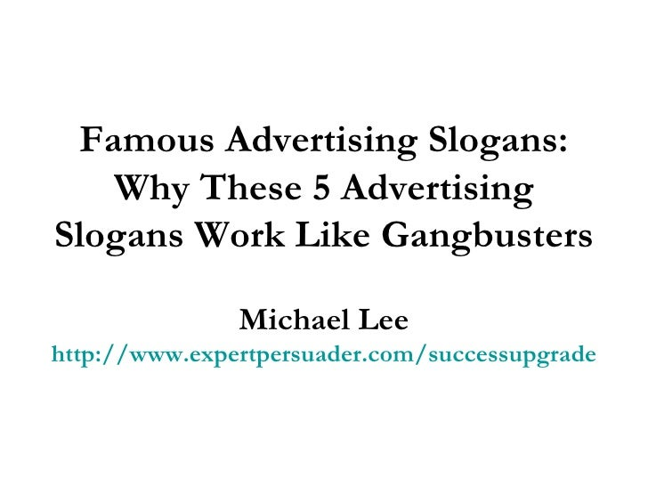 Famous Advertising Slogans: Why These 5 Advertising ...