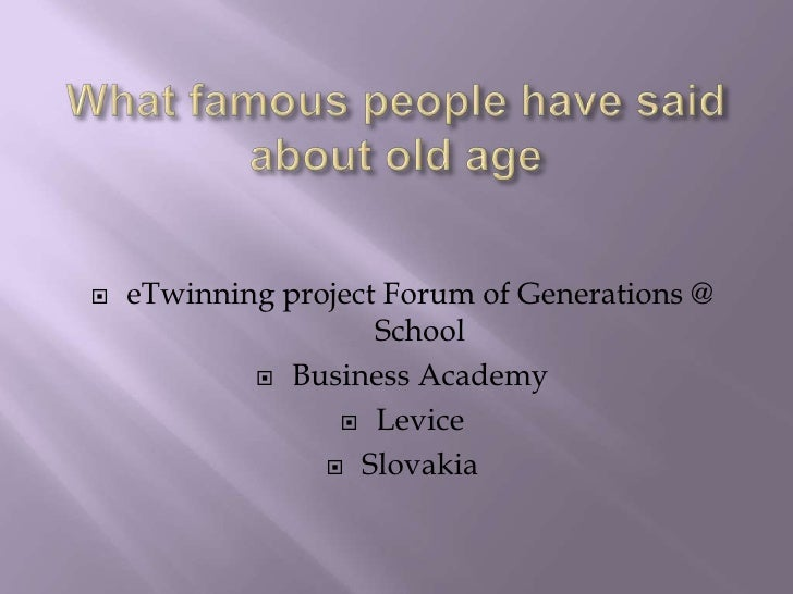    eTwinning project Forum of Generations @                     School             Business Academy                   L...