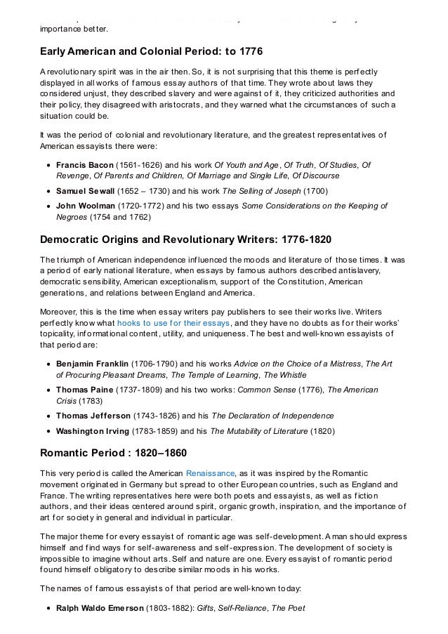 classical period essay Custom compare and contrast between classical and romantic period essay paper writing service buy compare and contrast between classical and romantic period essay paper online classical and romantic music evolved in different eras which are highly distinguished by different features like their content and method of composition.