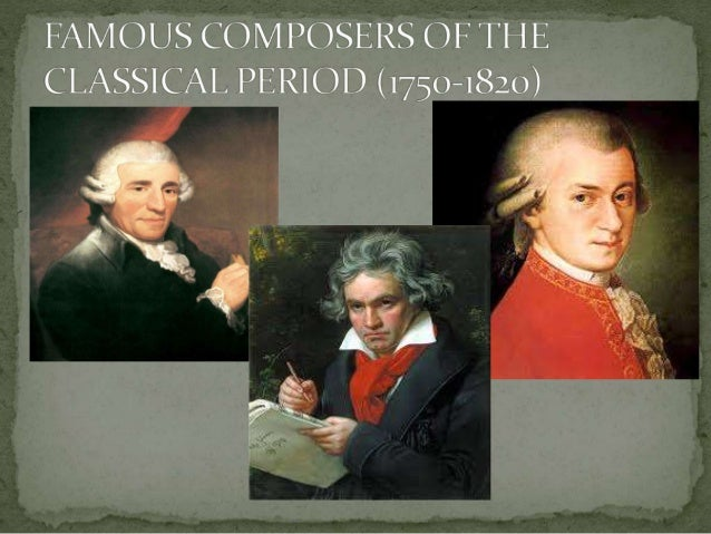 an introduction to the many composers in the classical period The classical period the classical era in music is the french opera overture in turn lent its slow introduction where many leading composers of the 19th.