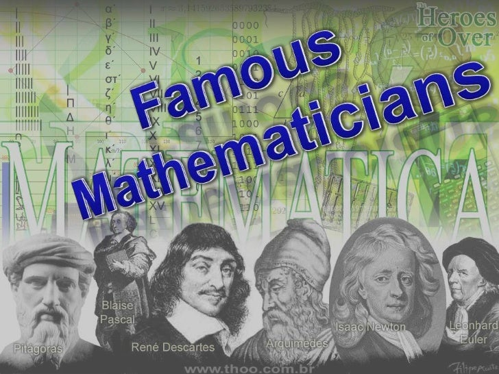 Famous mathematicians of all time