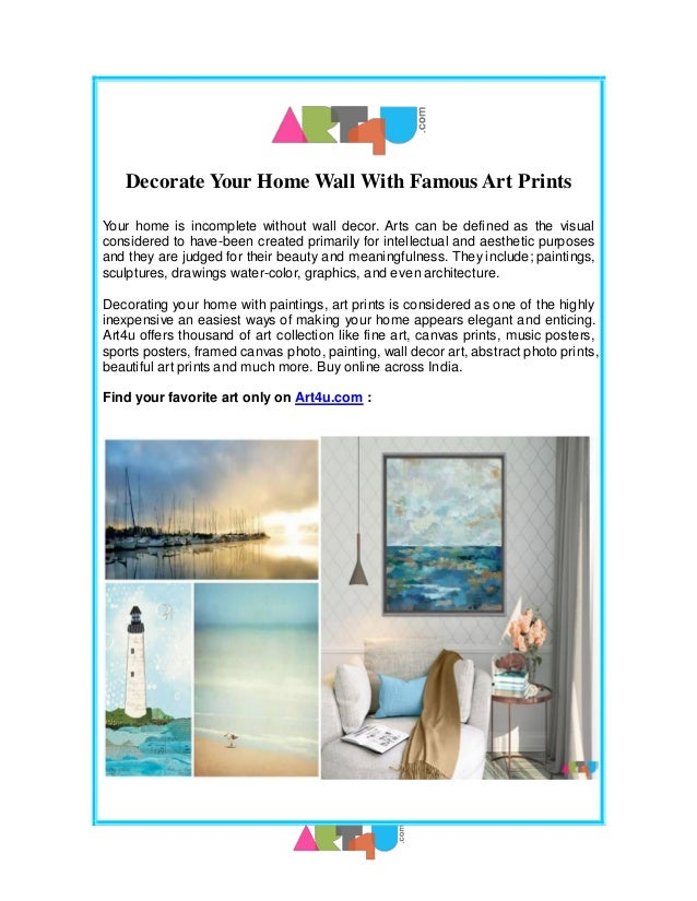 Famous Paintings And Art Prints For Home Decor