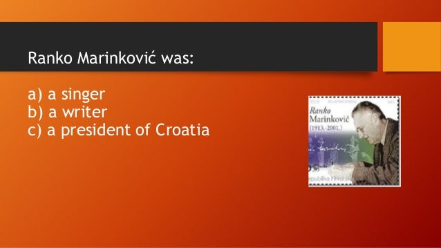 Famous People From Croatian History on Postage Stamps