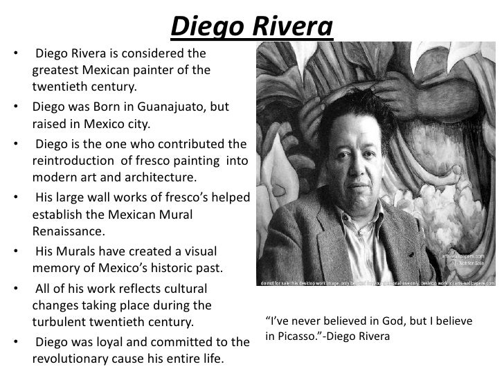 the life and works of diego rivera the greatest mexican painter of the twentieth century Of frida kahlo early life, the complete works work by a 20th century mexican artist ever mexican painter, diego rivera, whose work she.