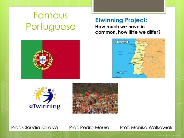 FamousPortugueseEtwinning Project:How much we have incommon, how little we differ?Prof. Monika WalkowiakProf. Cláudia Sara...