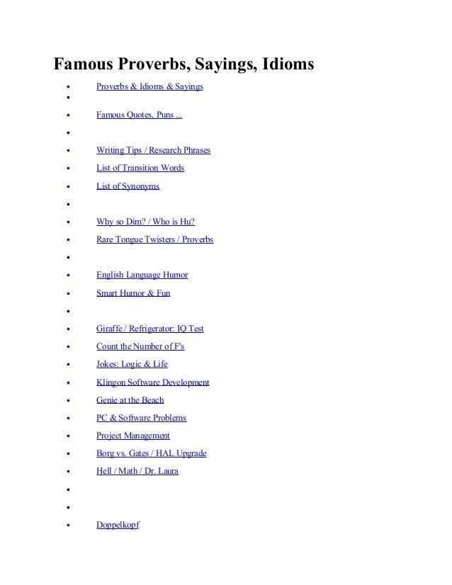 popular sayings in english pdf