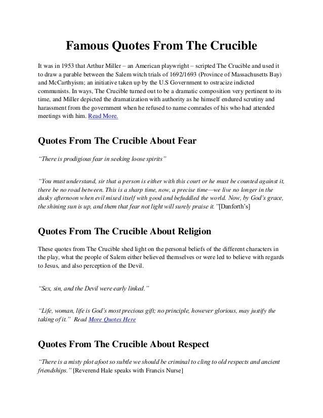the crucible monologue