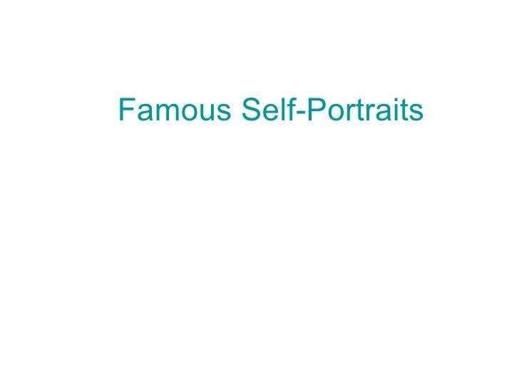 Famous Self-Portraits