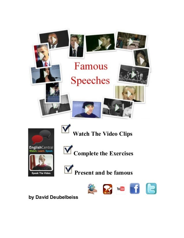 Watch The Video Clips Complete the Exercises Present and be famous by David Deubelbeiss