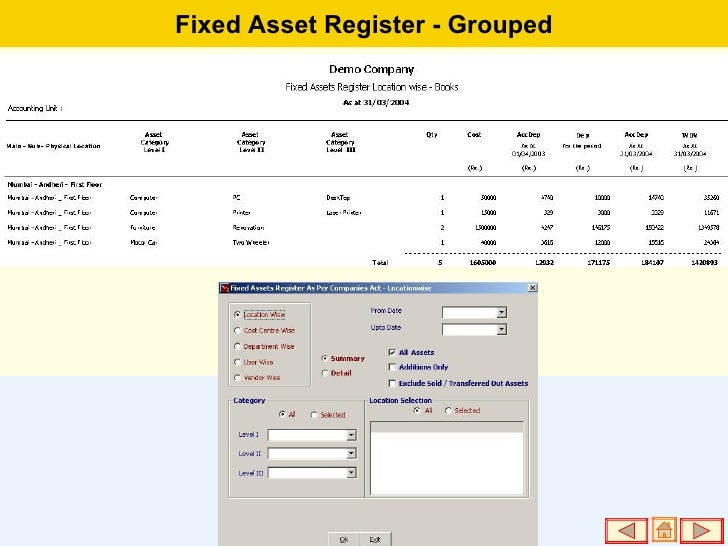 fixed assets register - photo #28