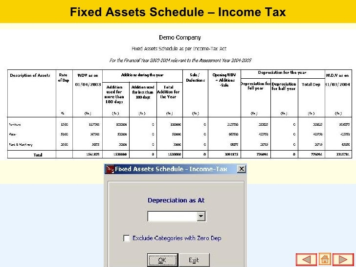 fixed asset schedule - Template