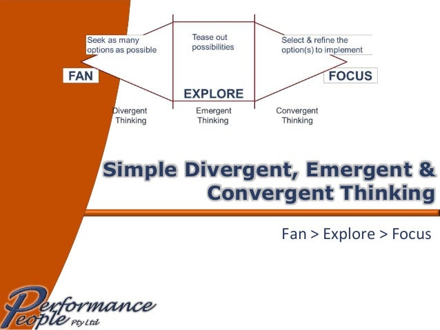 Simple Divergent, Emergent & Convergent Thinking Fan > Explore > Focus