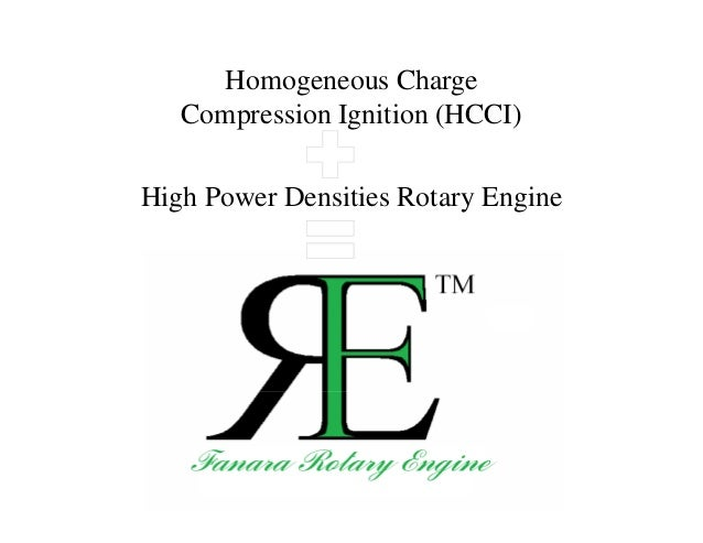 Homogeneous Charge Compression Ignition (HCCI) High Power Densities Rotary Engine
