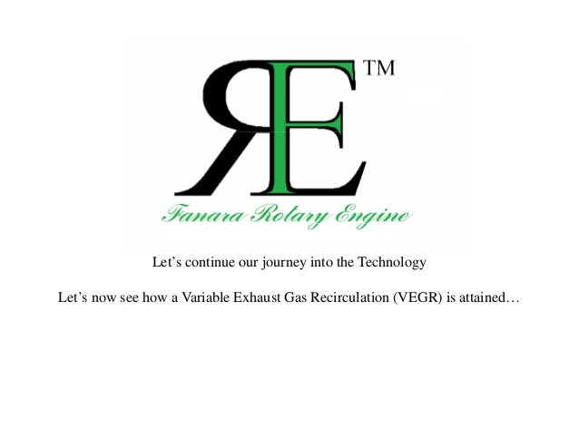 Let's continue our journey into the Technology Let's now see how a Variable Exhaust Gas Recirculation (VEGR) is attained…