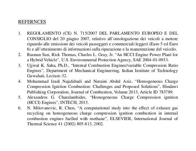 REFERNCES 1. REGOLAMENTO (CE) N. 715/2007 DEL PARLAMENTO EUROPEO E DEL CONSIGLIO del 20 giugno 2007, relativo all'omologaz...