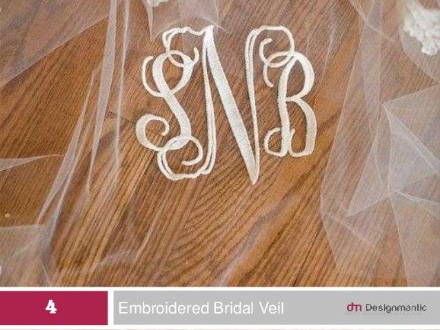Embroidered Bridal Veil4
