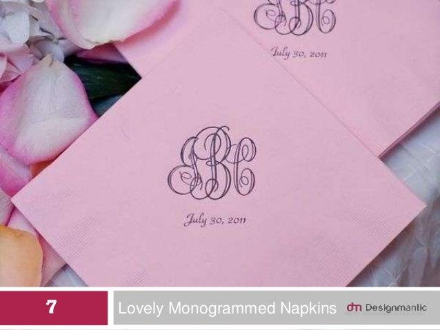 Lovely Monogrammed Napkins7