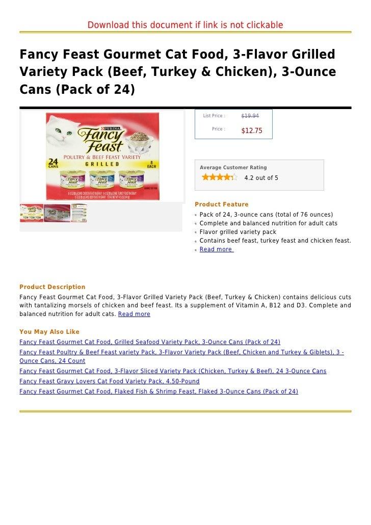 Fancy Feast Nutrition Facts Blog Dandk