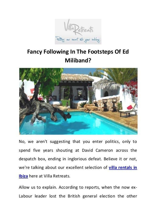 Fancy Following In The Footsteps Of Ed Miliband? No, we aren't suggesting that you enter politics, only to spend five year...
