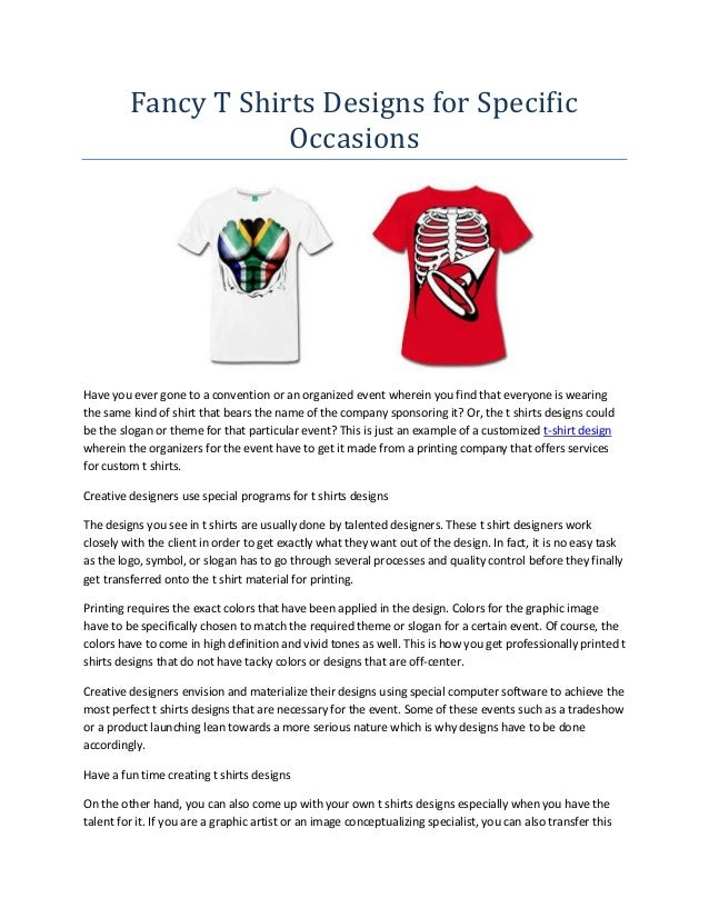 Fancy t shirts designs for specific occasions