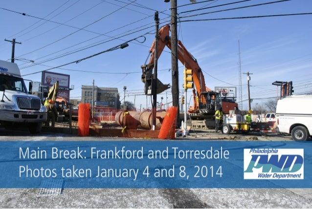 Frankford Avenue Main Break 1.8.13 Update Photos