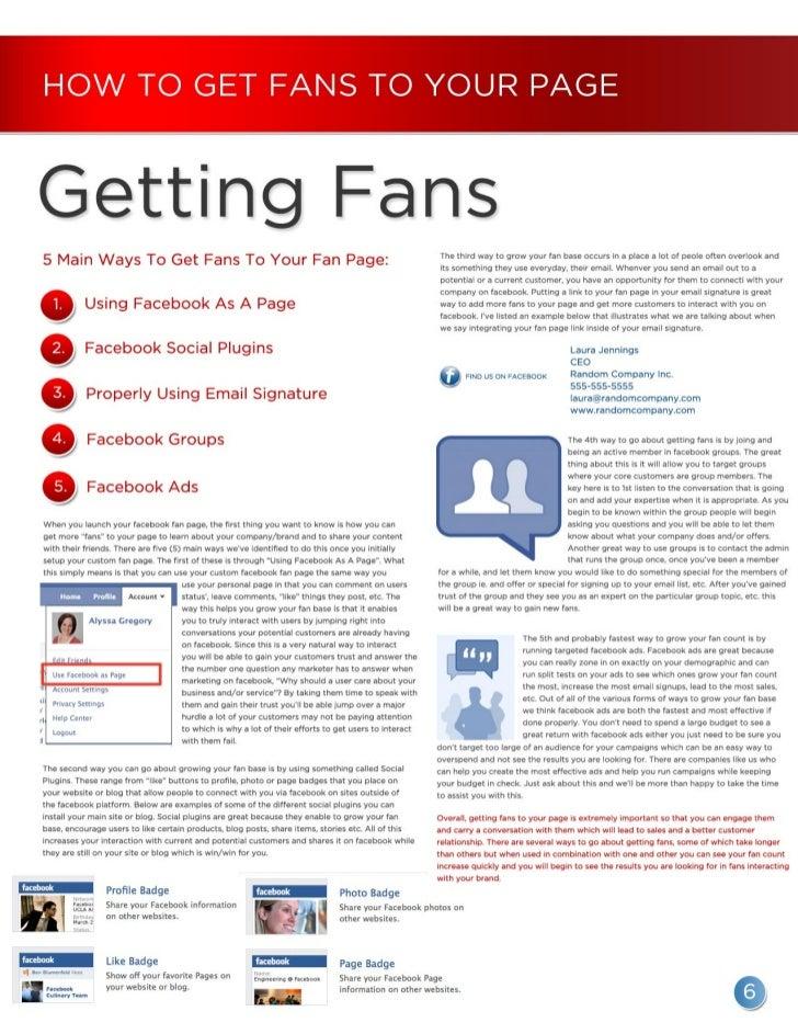 Facebook Fan Page Resource Guide From Fandura