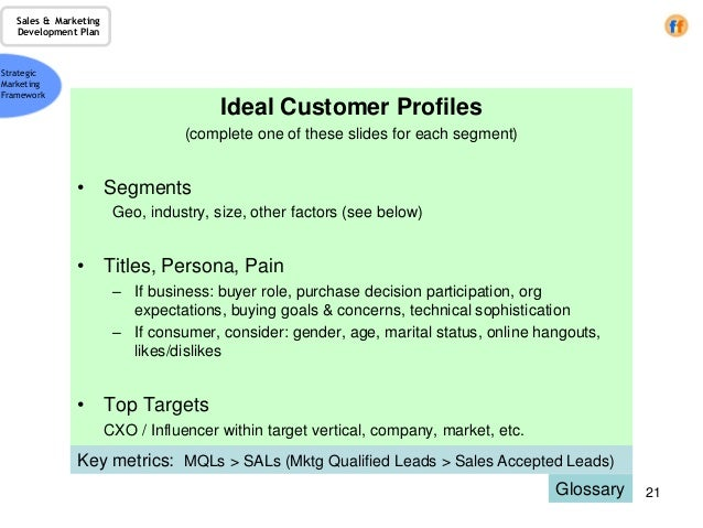customer profile and planning sheet Tips and guides to build an ideal customer profile that will help your sales and marketing teams know who and where they should invest their energy and time.