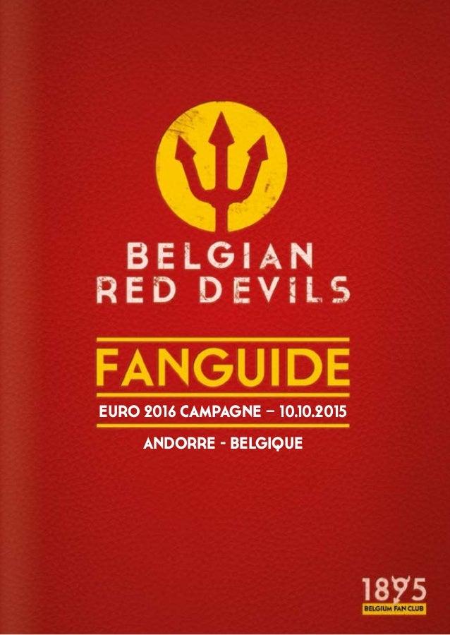 EURO 2016 CAMPAGNE – 10.10.2015 ANDORRE - BELGIQUE