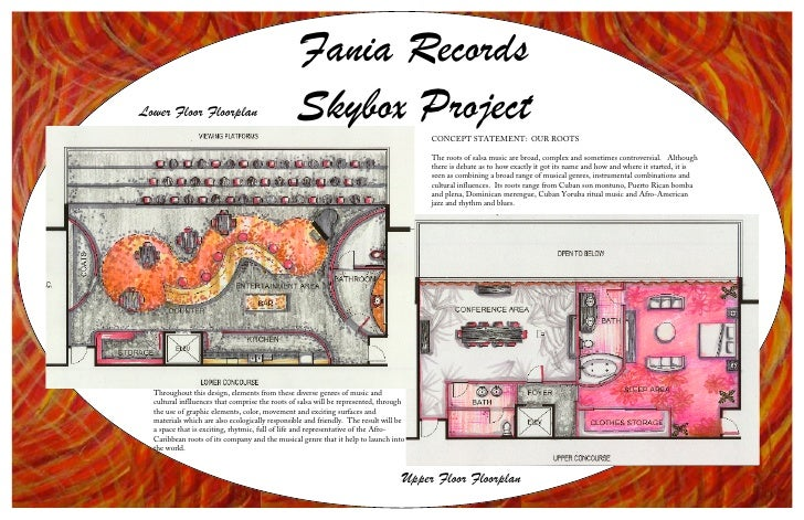 Fania Records Lower Floor Floorplan                           Skybox Project                          CONCEPT STATEMENT: O...