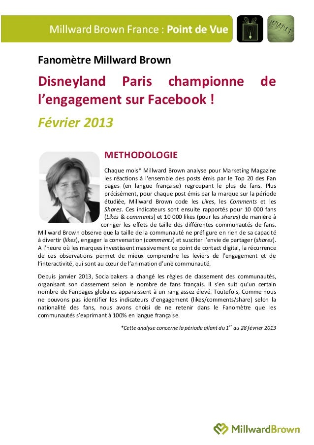 Fanomètre Millward BrownDisneyland Paris championne                                                                  del'e...