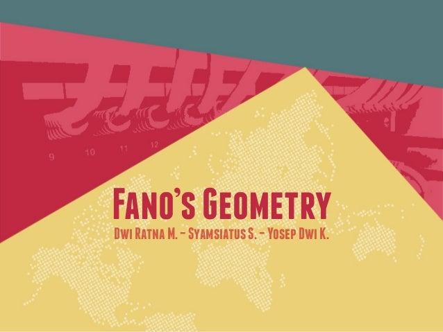 Fano'sGeometryDwiRatnaM.–SyamsiatusS.–YosepDwiK.