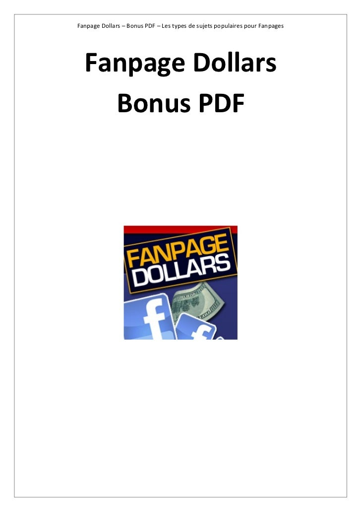 Fanpage Dollars – Bonus PDF – Les types de sujets populaires pour Fanpages  Fanpage Dollars    Bonus PDF