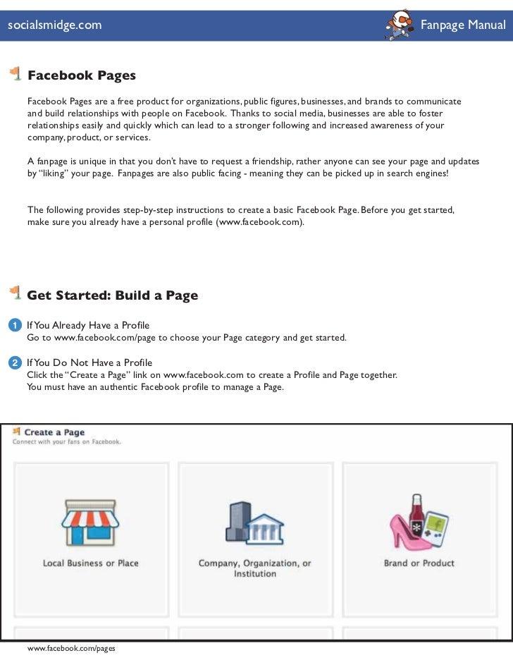 socialsmidge.com                                                                                    Fanpage Manual    Face...
