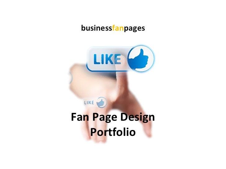 Fan Page Design Portfolio business fan pages