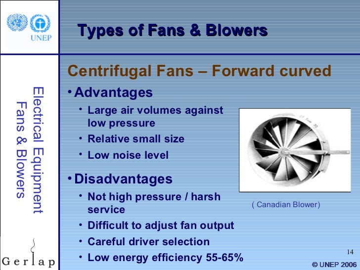 Types Of Centrifugal Blowers : Fans and blowers