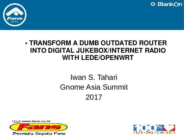 Transform Old Router into Digital Jukebox/Internet Radio