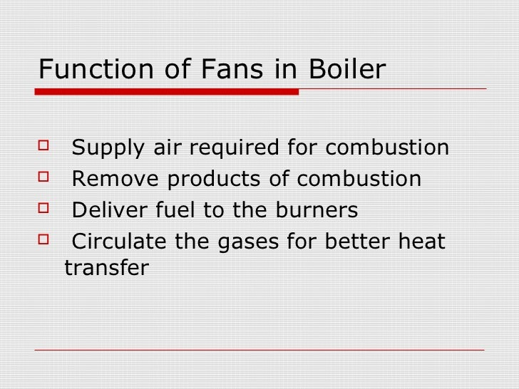 Fans In Thermal Power Plants
