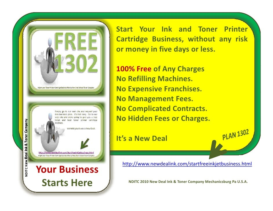 Starting an Ink Cartridge Refill Company – Sample Business Plan Template
