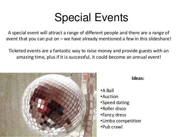 speed dating fundraising ideas