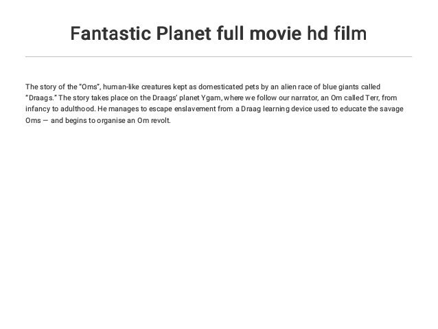 Fantastic Planet Full Movie Hd Film
