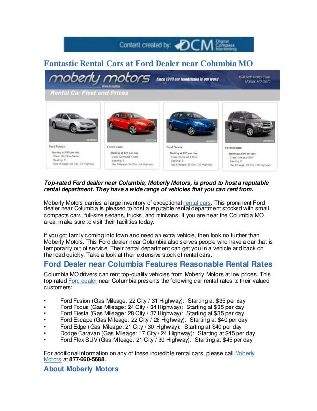 Car Dealerships In Columbia Mo >> Fantastic Rental Cars At Ford Dealer Near Columbia Mo