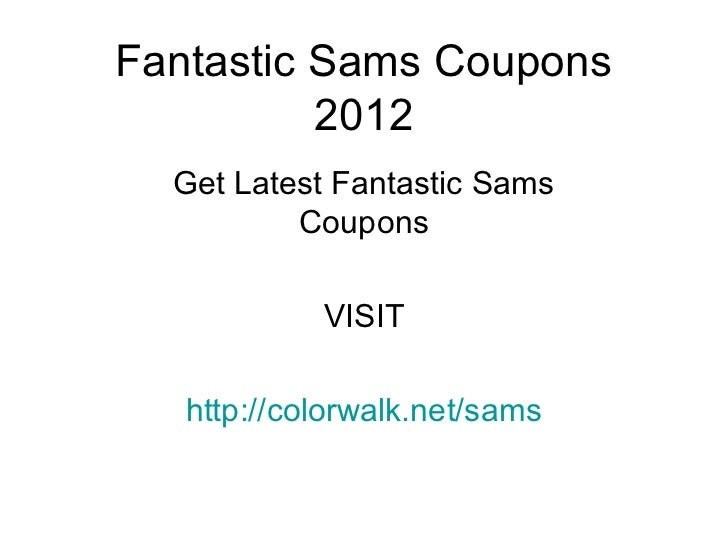 Perm coupons fantastic sams