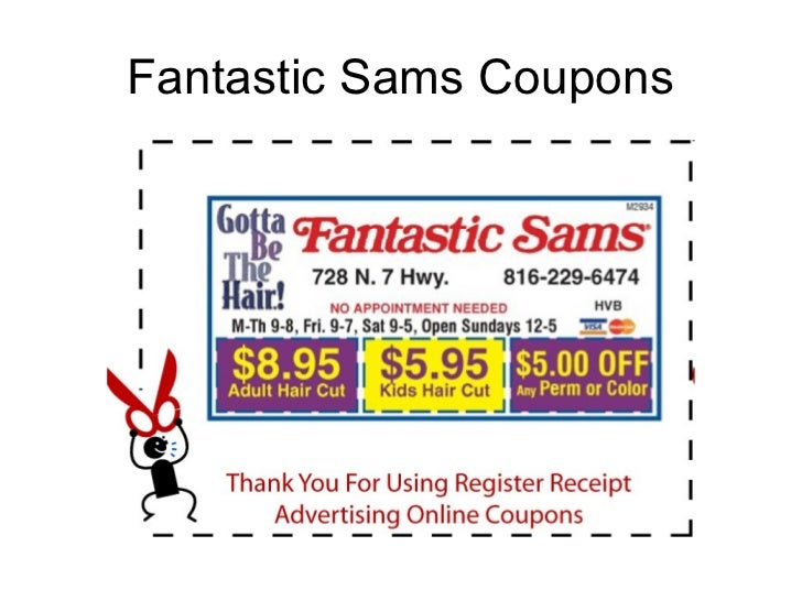 image about Fantastic Sams Coupons Printable named Haircut coupon codes san diego : August 2018 Sale