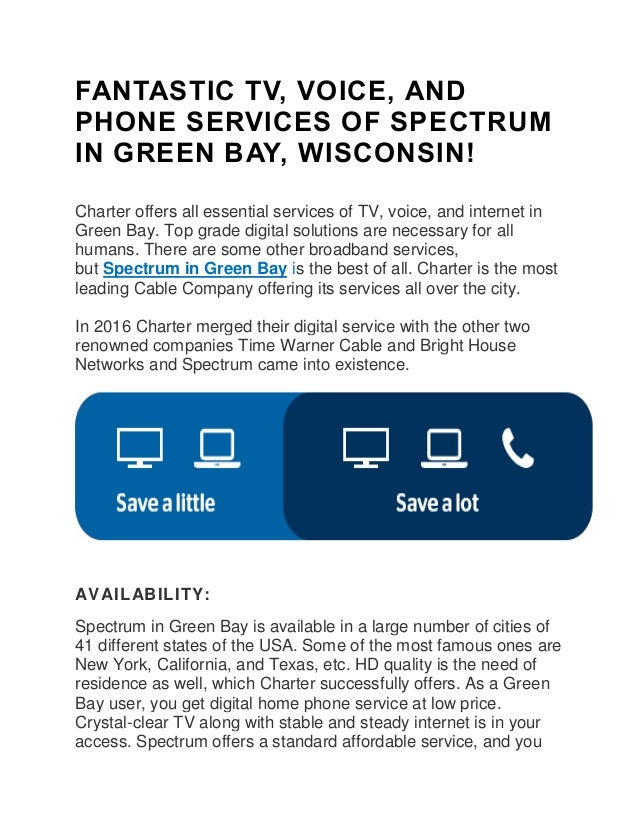 Charter Phone Service >> Fantastic Tv Voice And Phone Services Of Spectrum In Green