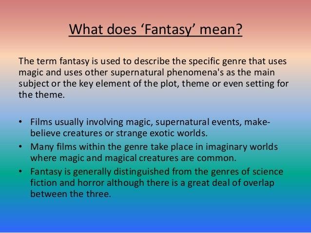 Fantasy Genre Research