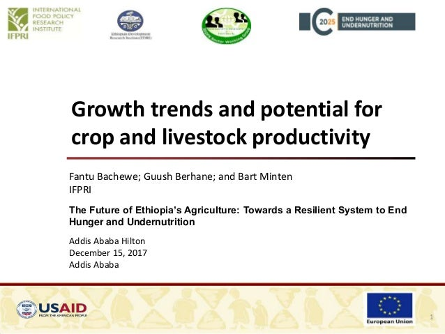 Growth trends and potential for crop and livestock productivity Fantu Bachewe; Guush Berhane; and Bart Minten IFPRI The Fu...