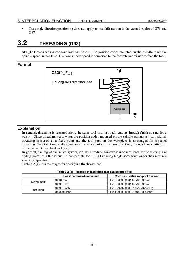 Fanuc Ot operator manual