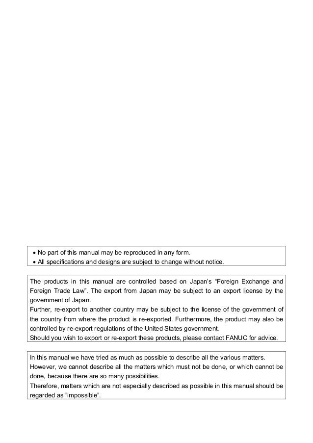 Fanuc 11 Parameter manual