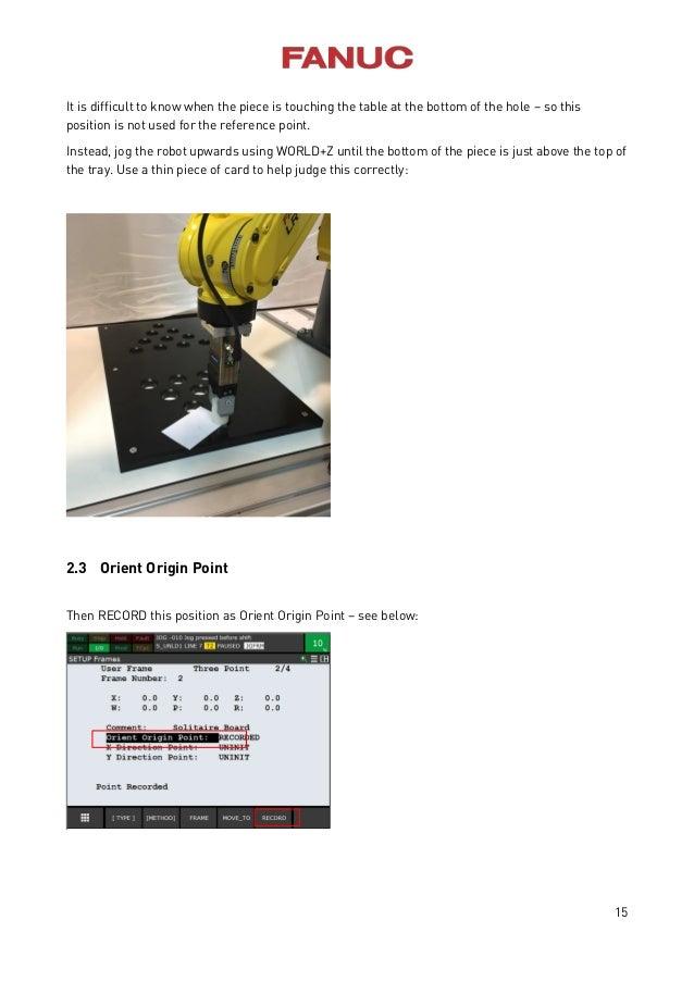 Fanuc educational cell manual